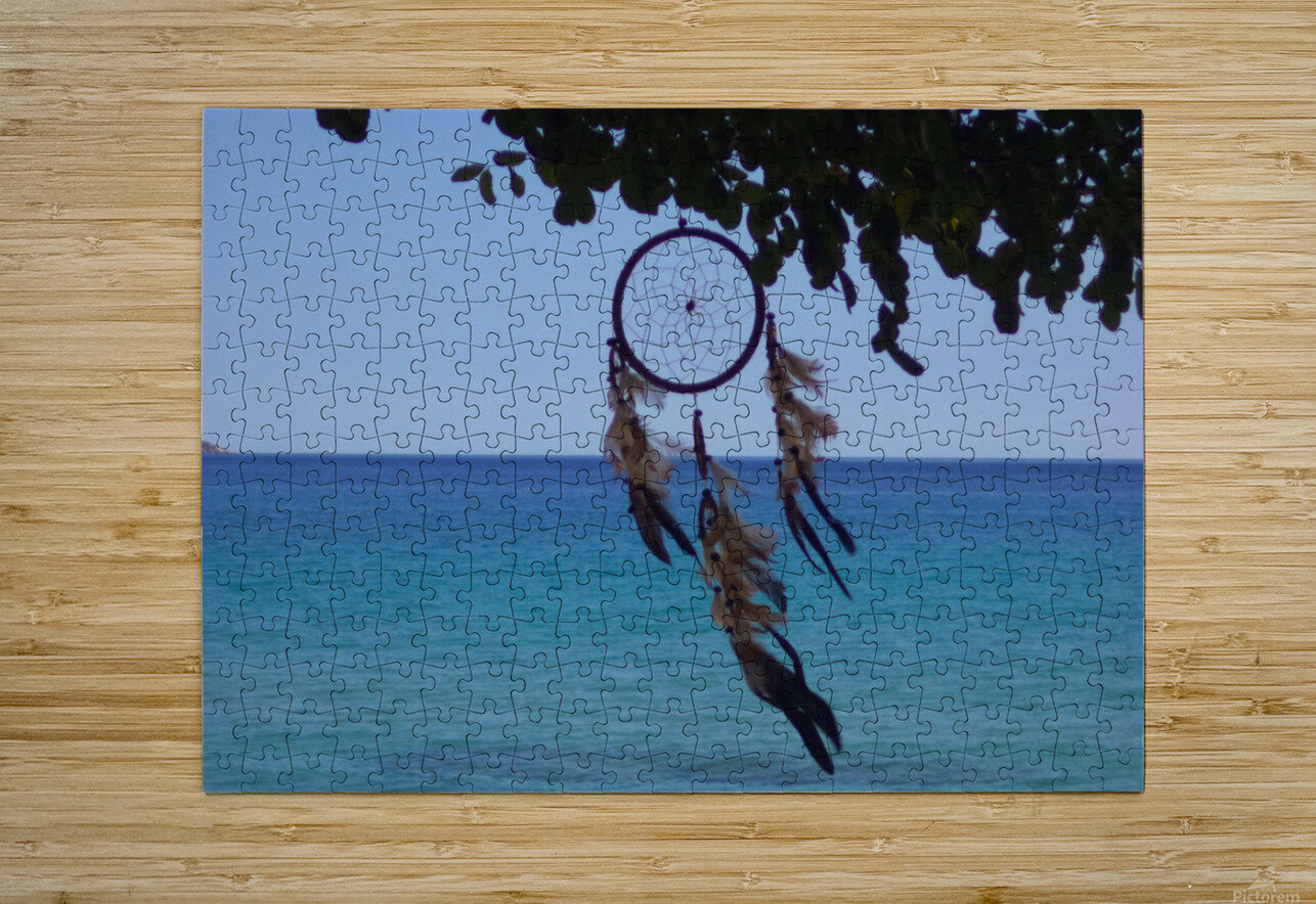Dreams by the sea  HD Metal print with Floating Frame on Back