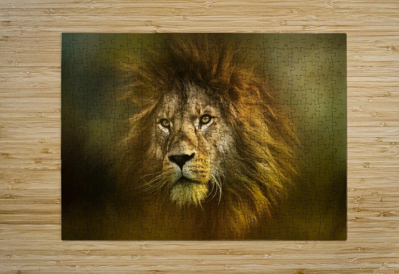 Lion King  HD Metal print with Floating Frame on Back