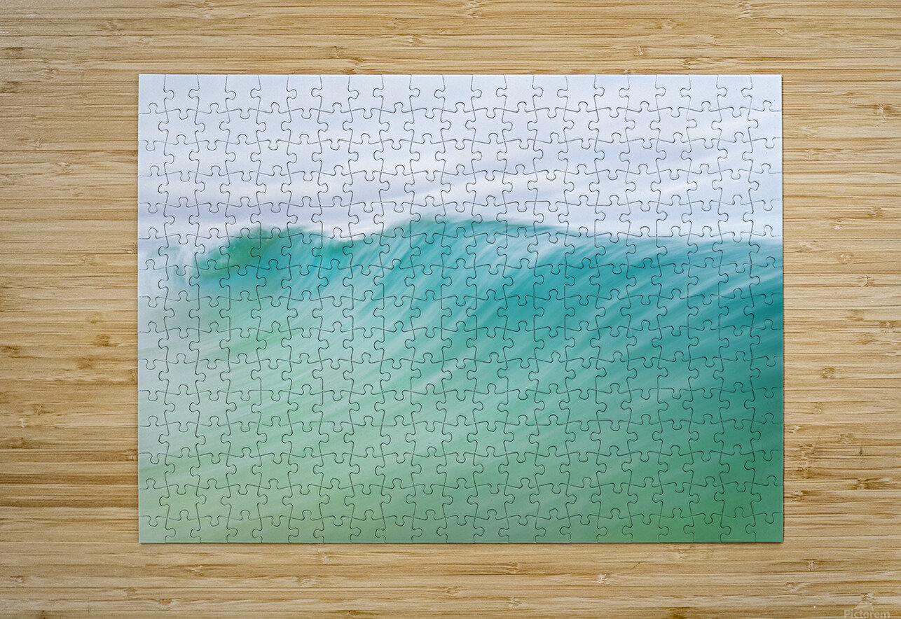 CANARY WAVES 2.  HD Metal print with Floating Frame on Back
