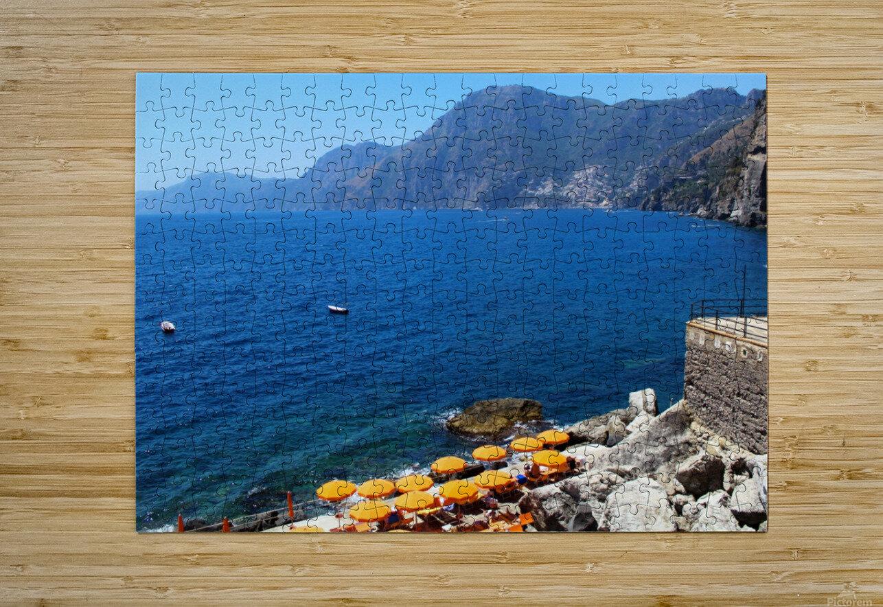 Praiano Beach - Amalfi Coast  HD Metal print with Floating Frame on Back