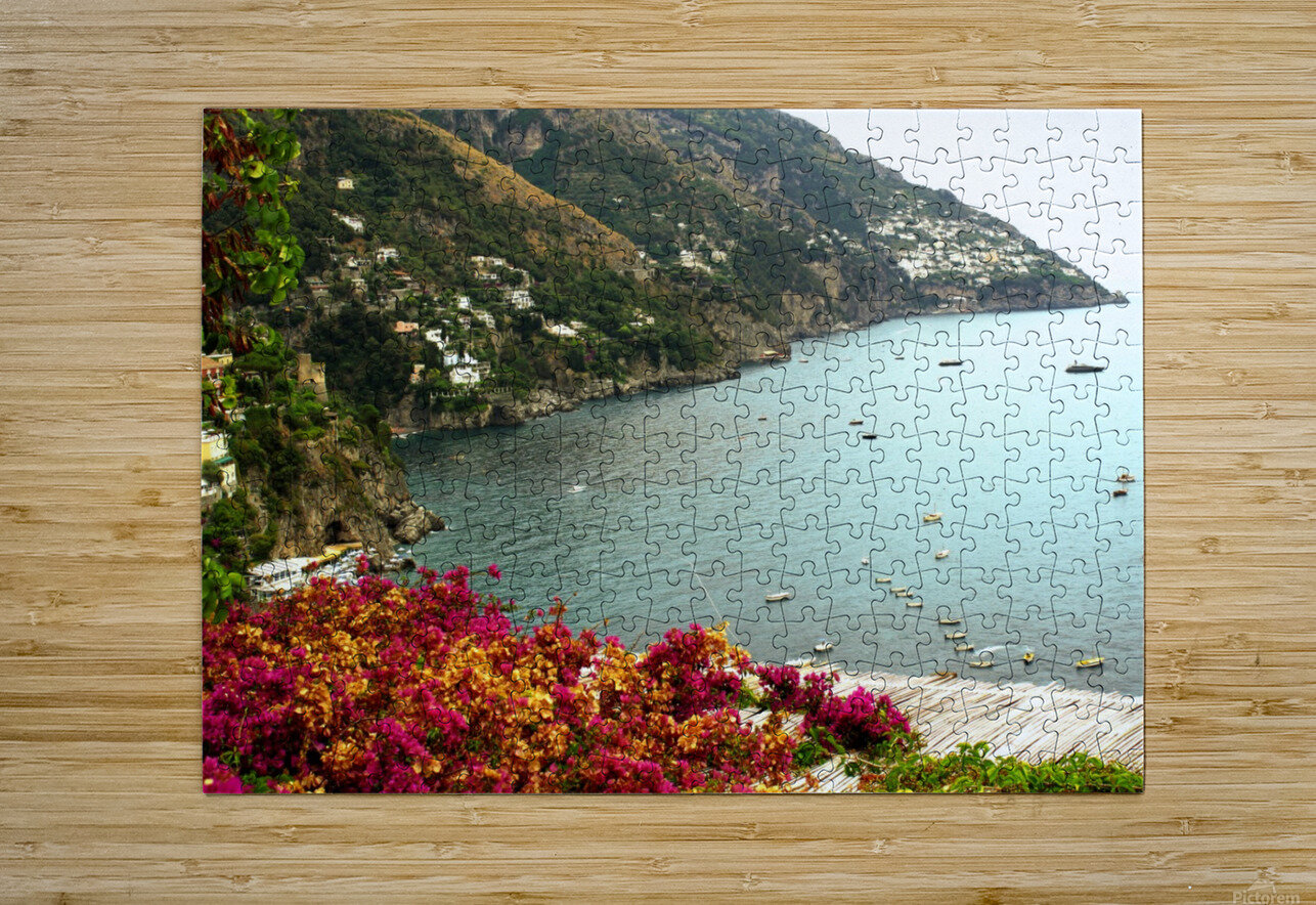 Amalfi Coast landscape   HD Metal print with Floating Frame on Back