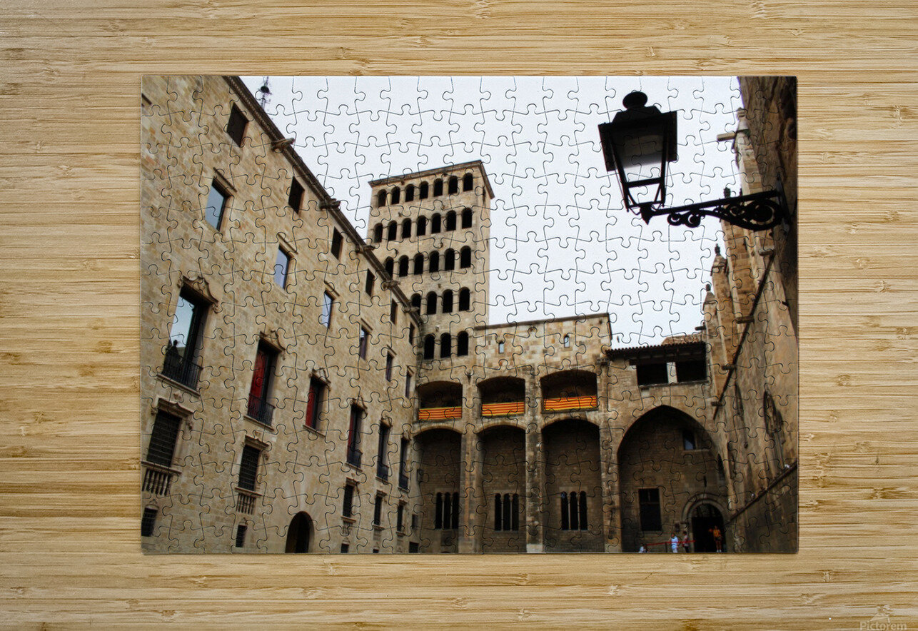 Gothic Quarter - Catalunya - Spain Landmark  HD Metal print with Floating Frame on Back