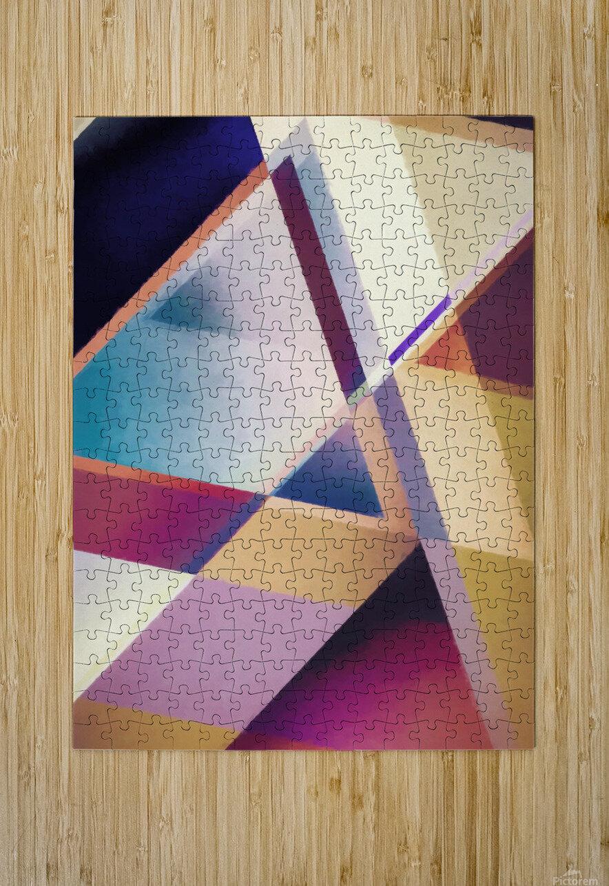 Composition des Pyramides  HD Metal print with Floating Frame on Back