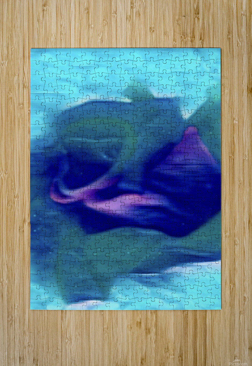 Flora of Paint  HD Metal print with Floating Frame on Back