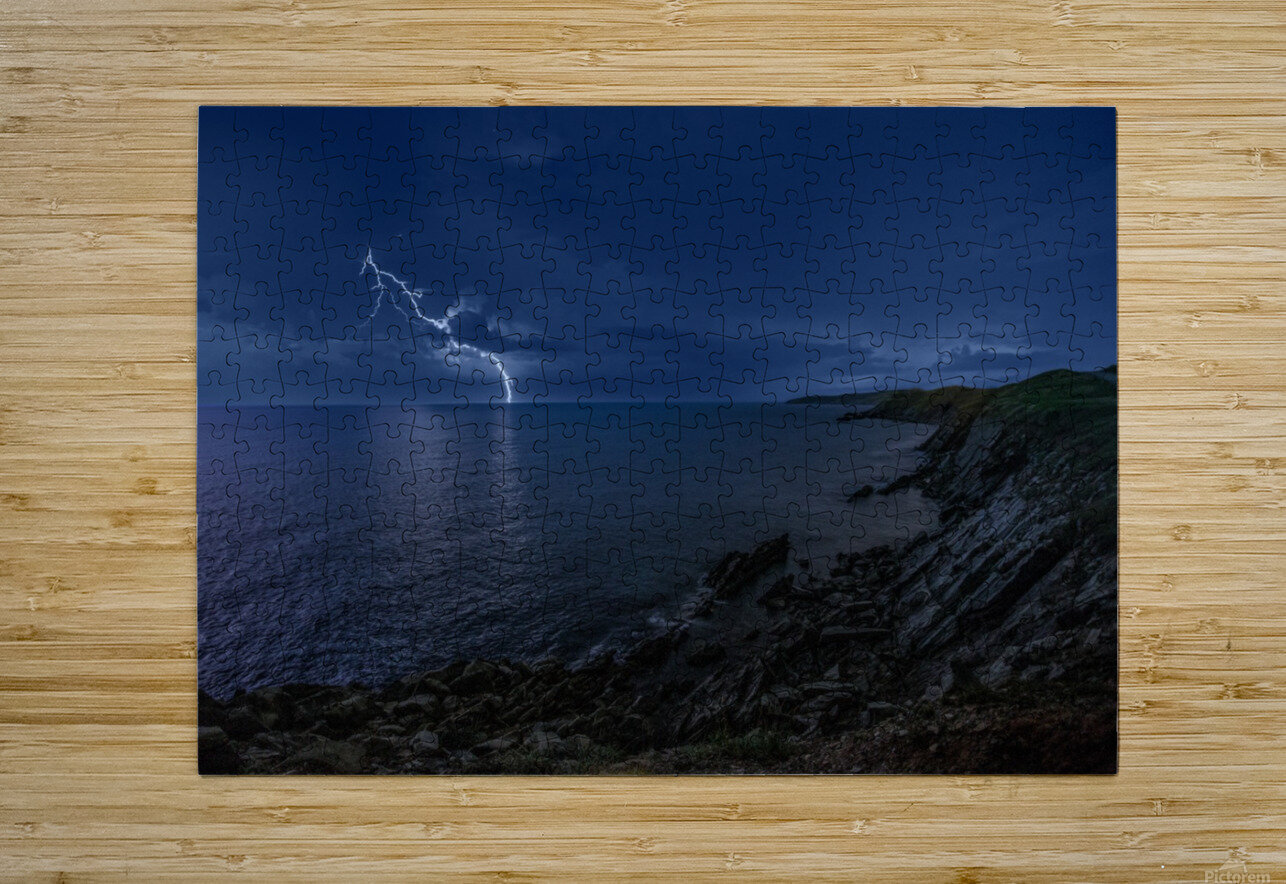 Stormynight  HD Metal print with Floating Frame on Back