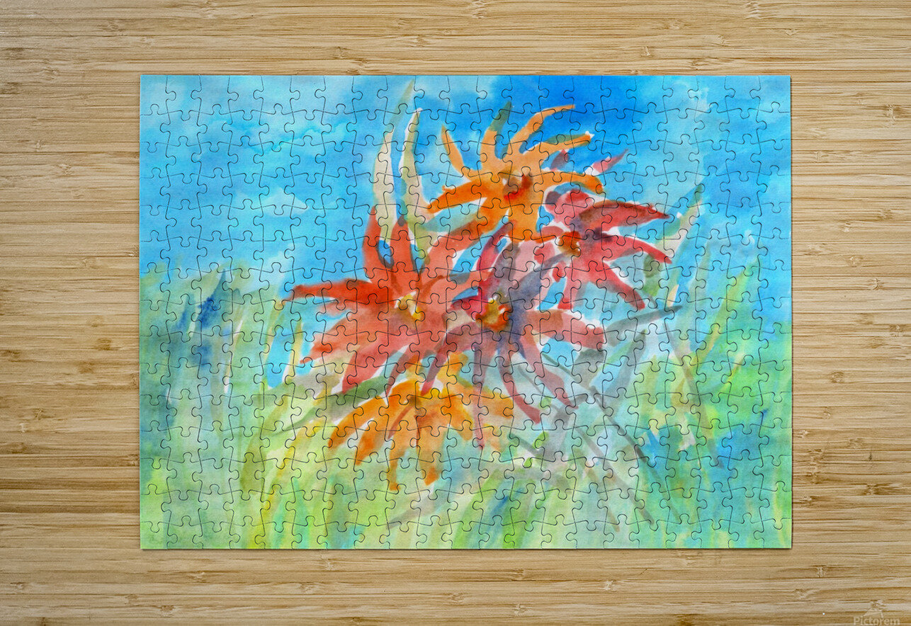 wildflower  HD Metal print with Floating Frame on Back