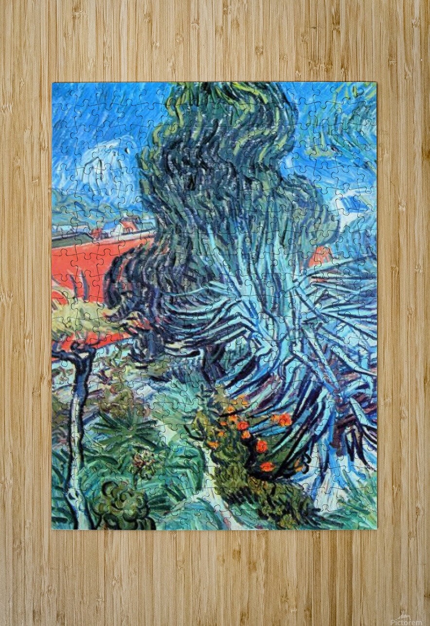 The garden of Dr. Gachet by Van Gogh  HD Metal print with Floating Frame on Back