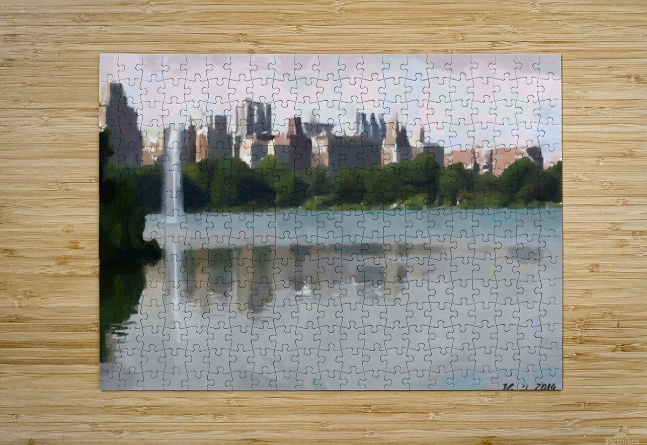 NY_CENTRAL PARK_View 061  HD Metal print with Floating Frame on Back