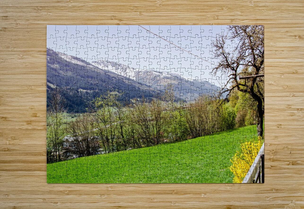 Niedernsill Landscape Austrian Alps  HD Metal print with Floating Frame on Back