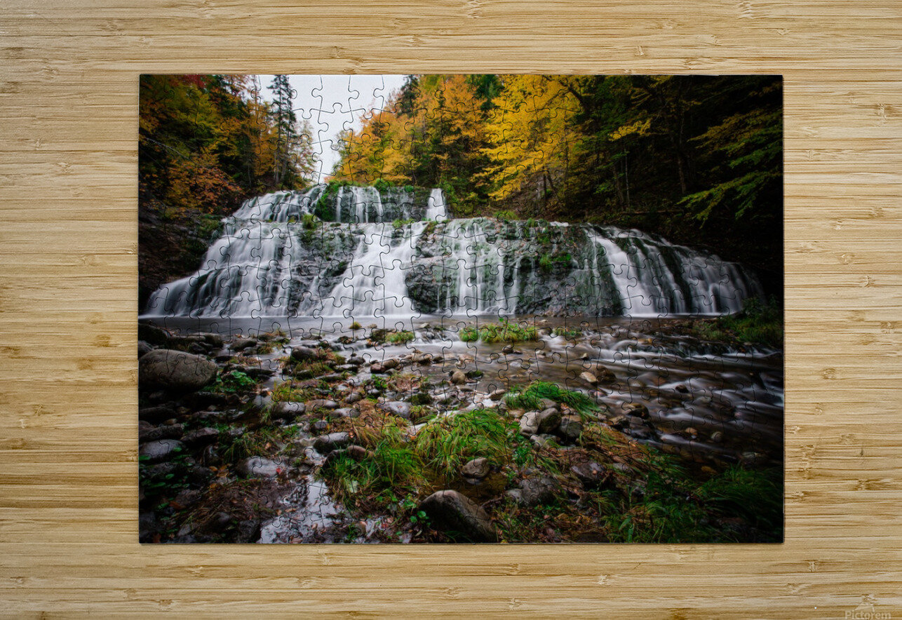 Autumn at Egypt Falls  HD Metal print with Floating Frame on Back