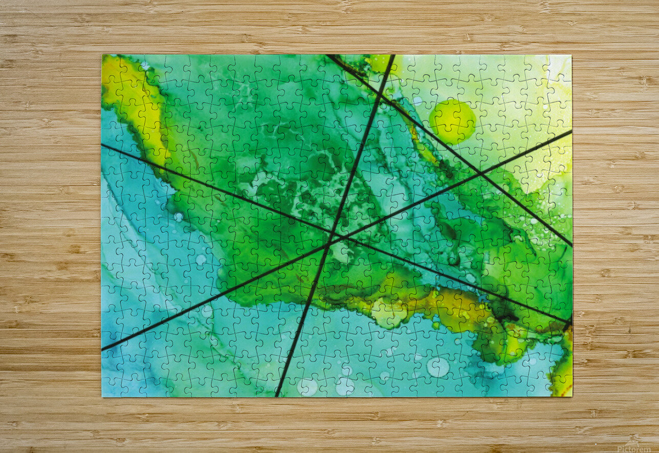 Green under the Lines  HD Metal print with Floating Frame on Back