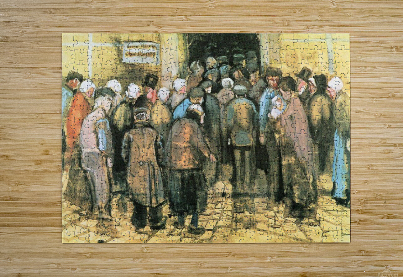 The National Lottery by Van Gogh  HD Metal print with Floating Frame on Back