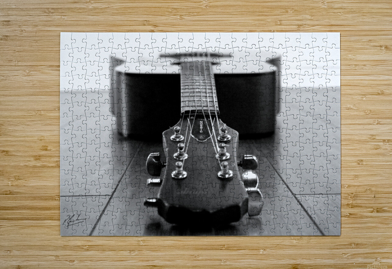Gibson Guitar  HD Metal print with Floating Frame on Back