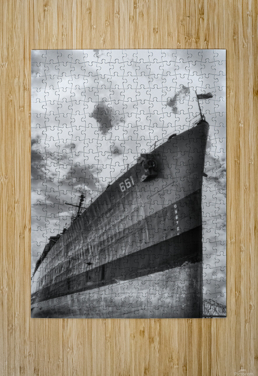 Tanked  HD Metal print with Floating Frame on Back
