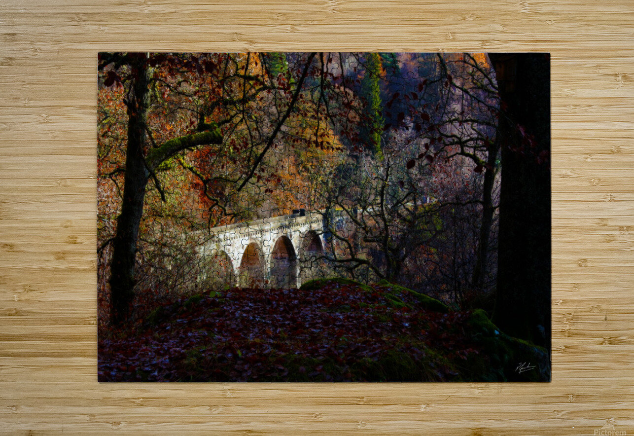 Viaduct River Gary  HD Metal print with Floating Frame on Back