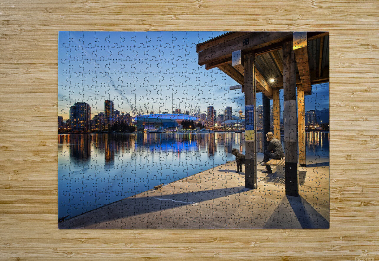 Waiting for Water Taxi  HD Metal print with Floating Frame on Back