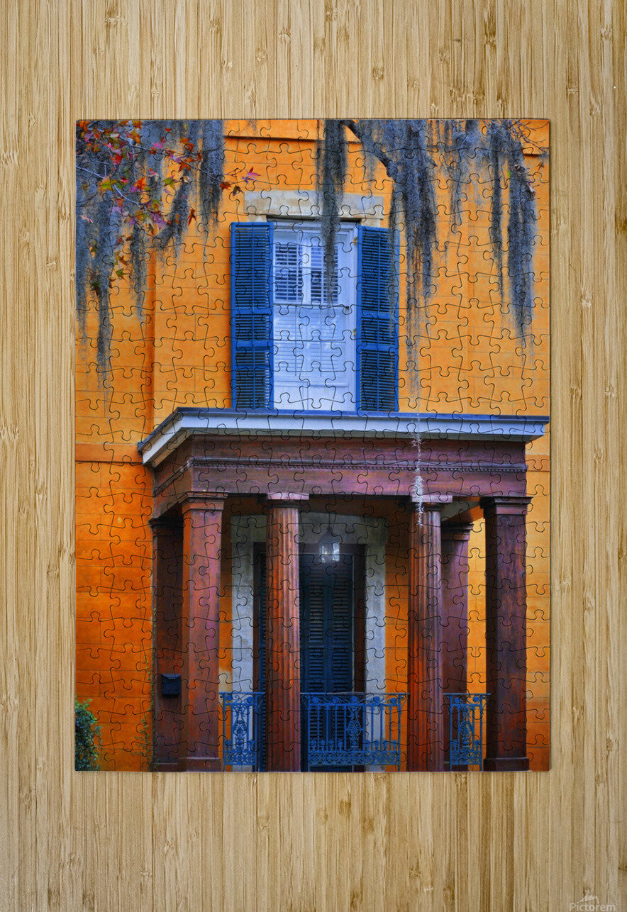 Savannah Porch  HD Metal print with Floating Frame on Back