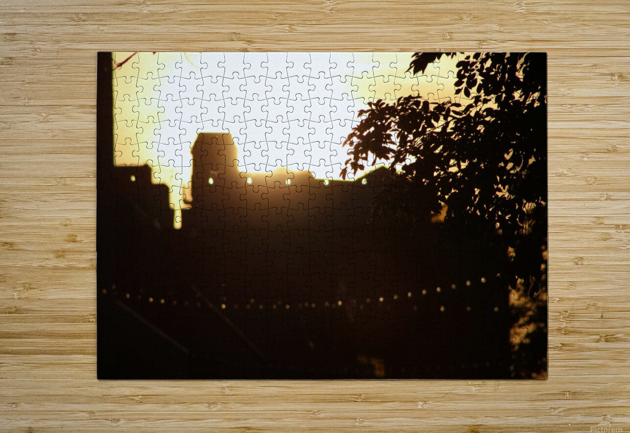 Montreal Sunset  HD Metal print with Floating Frame on Back
