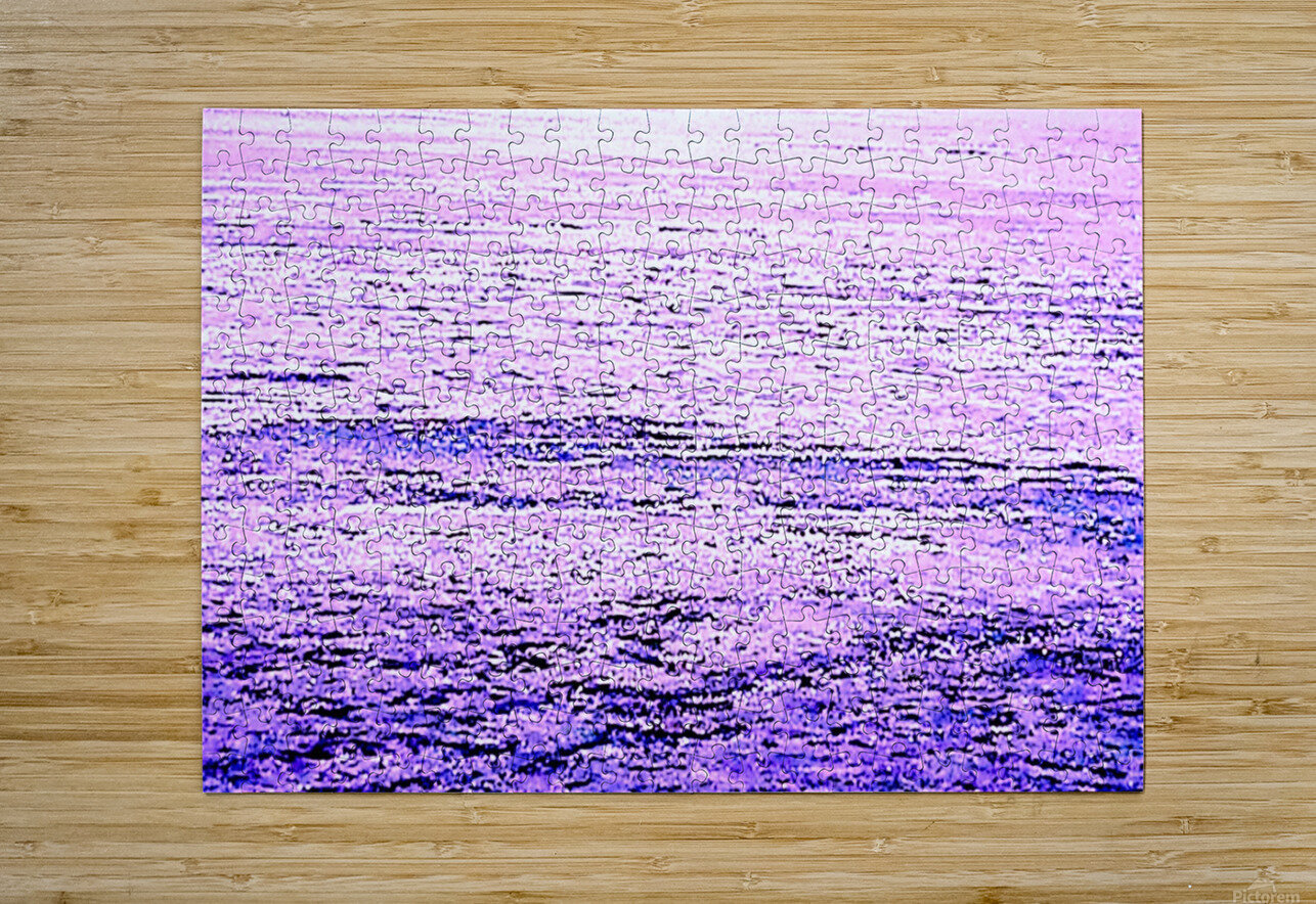 ICE 3 PINK : PURPLE  HD Metal print with Floating Frame on Back