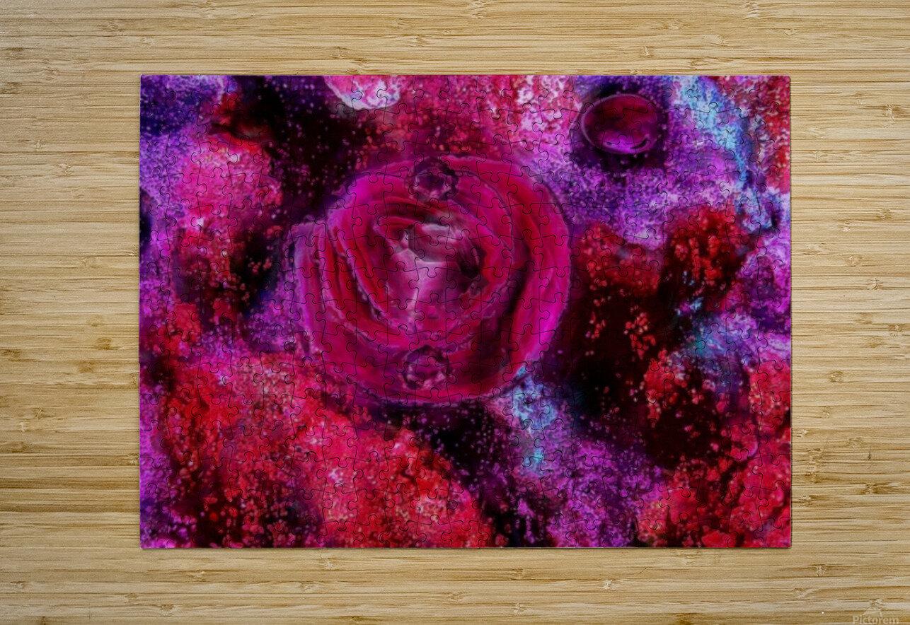 Rose me up  HD Metal print with Floating Frame on Back