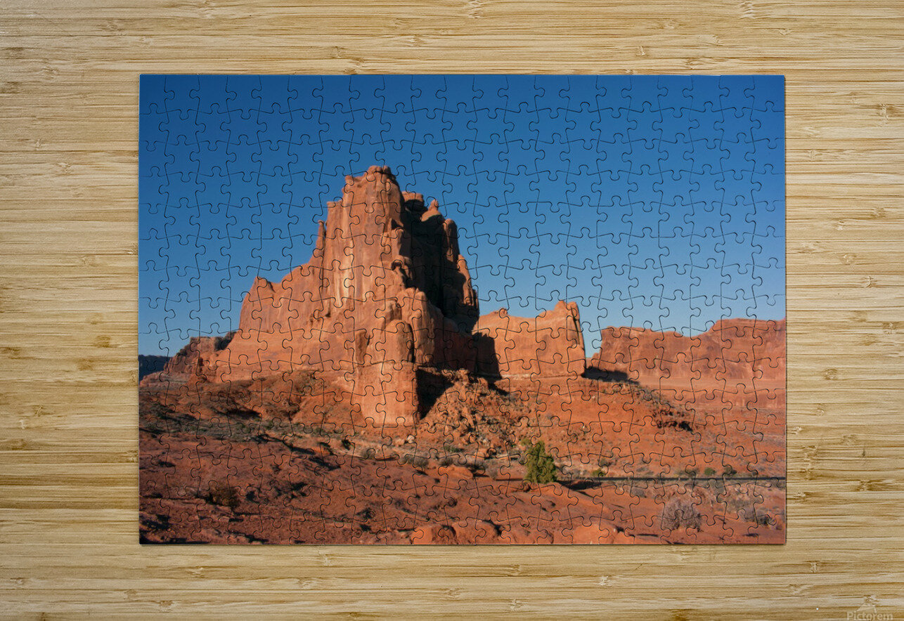 Desert Scape  HD Metal print with Floating Frame on Back