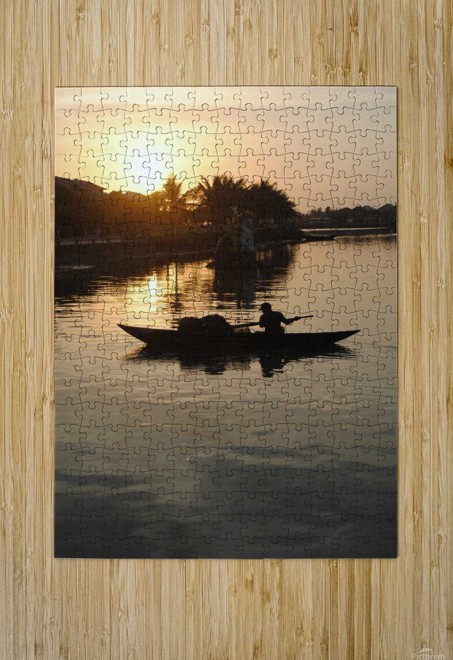 Asian Fishin  HD Metal print with Floating Frame on Back