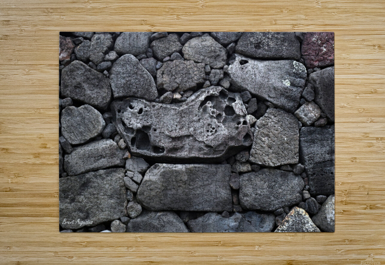 Lava brick  HD Metal print with Floating Frame on Back