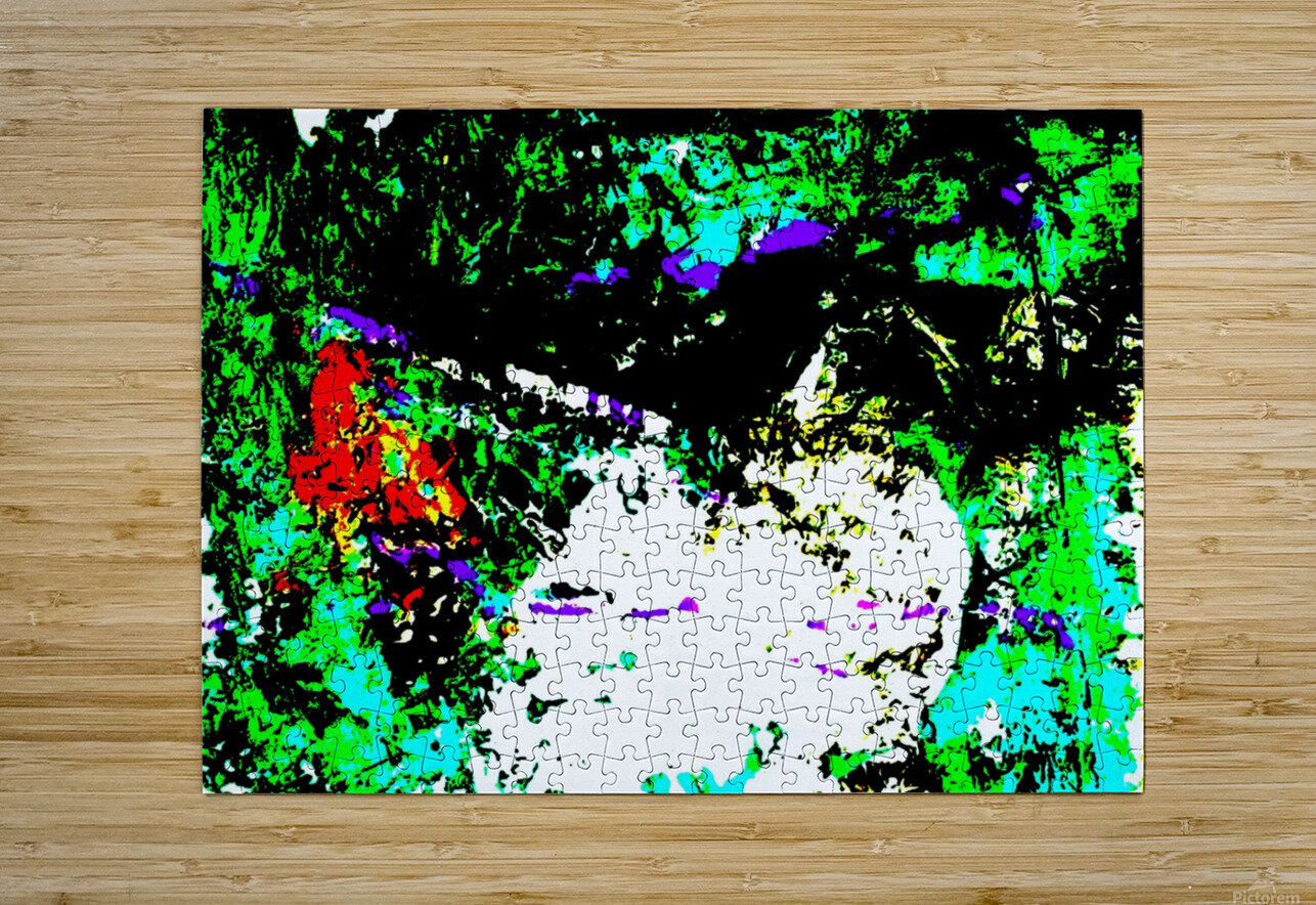 ROCHER 2 - Inverted Colours  HD Metal print with Floating Frame on Back