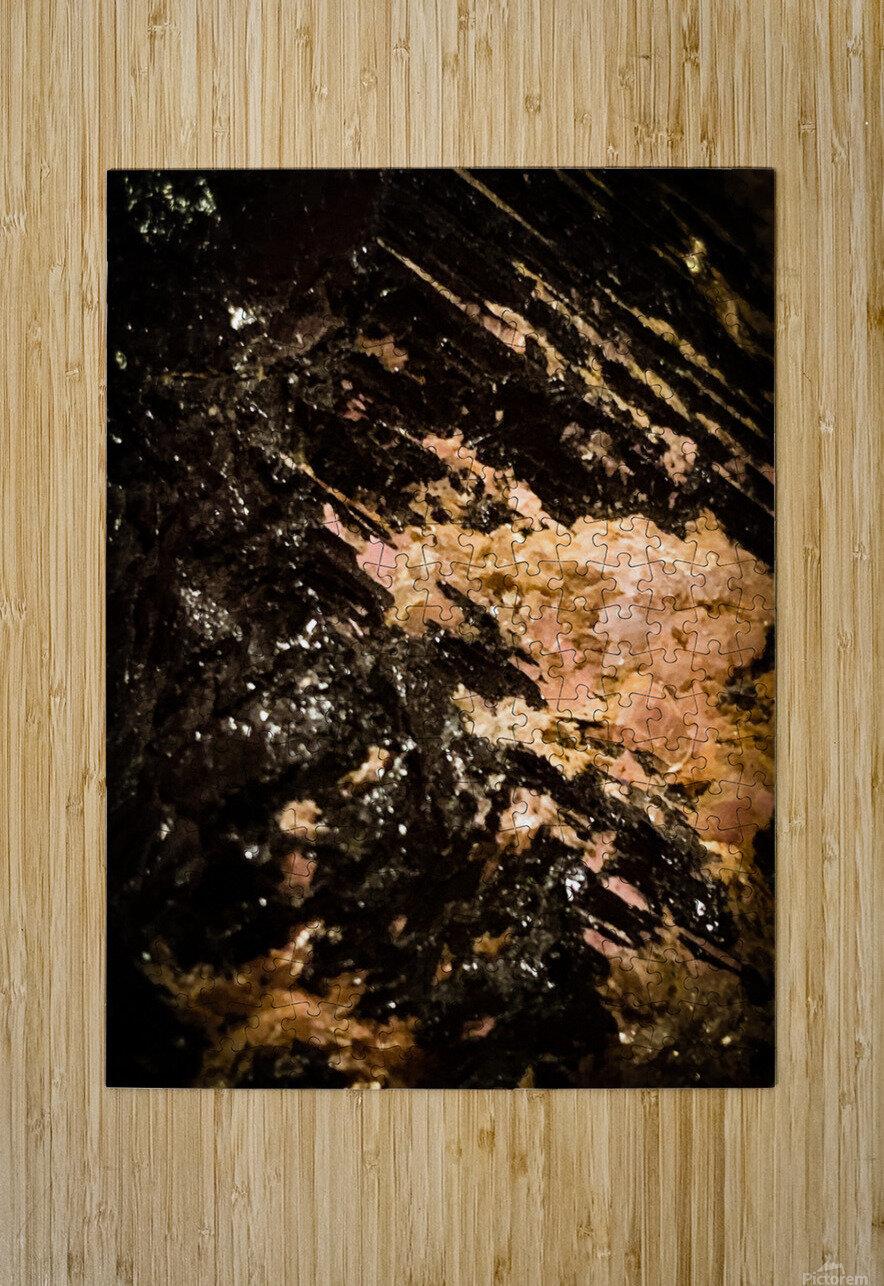 Mineral Gold   Impression métal HD avec cadre flottant sur le dos