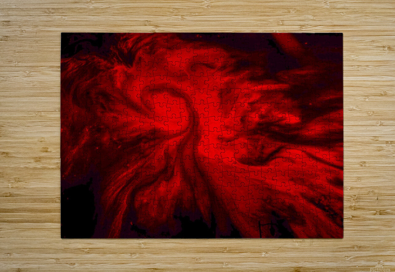 Red Fire   Impression métal HD avec cadre flottant sur le dos