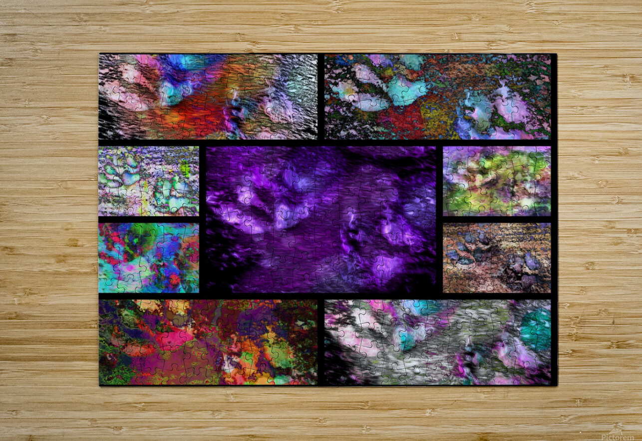 Crazy Paw Print Collage  HD Metal print with Floating Frame on Back