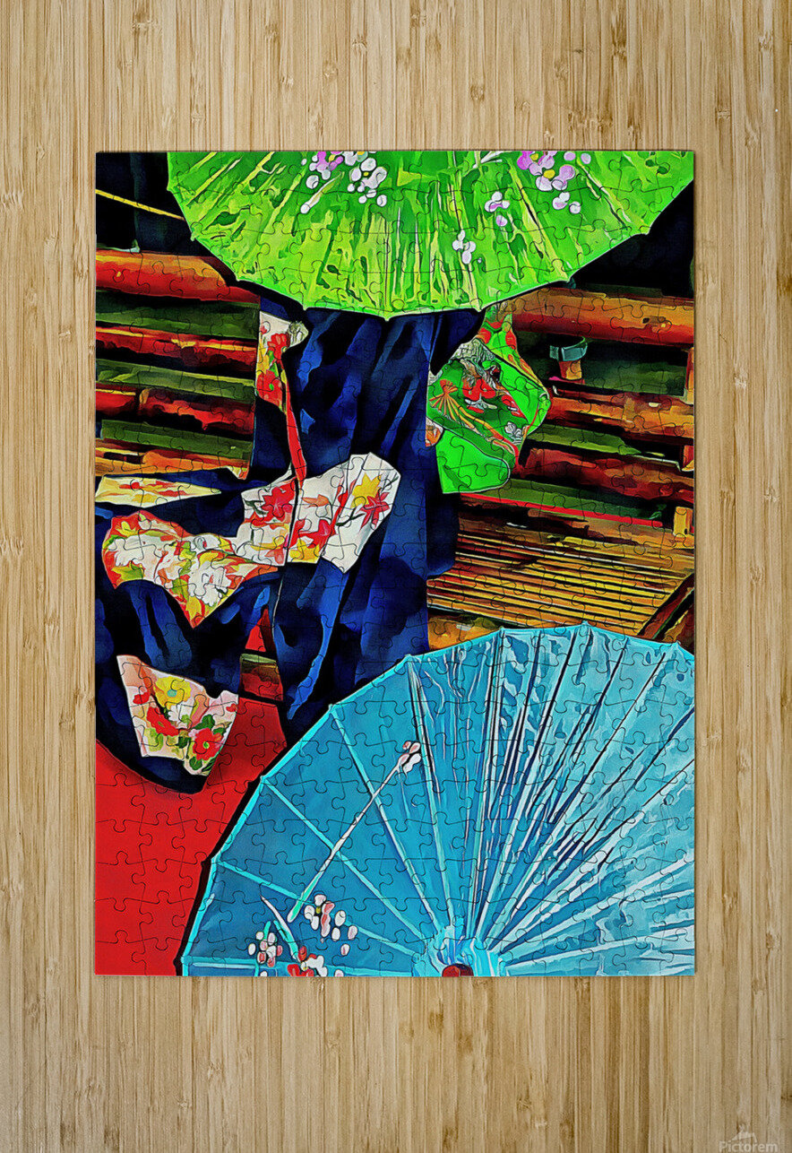 A Touch of Japan  HD Metal print with Floating Frame on Back