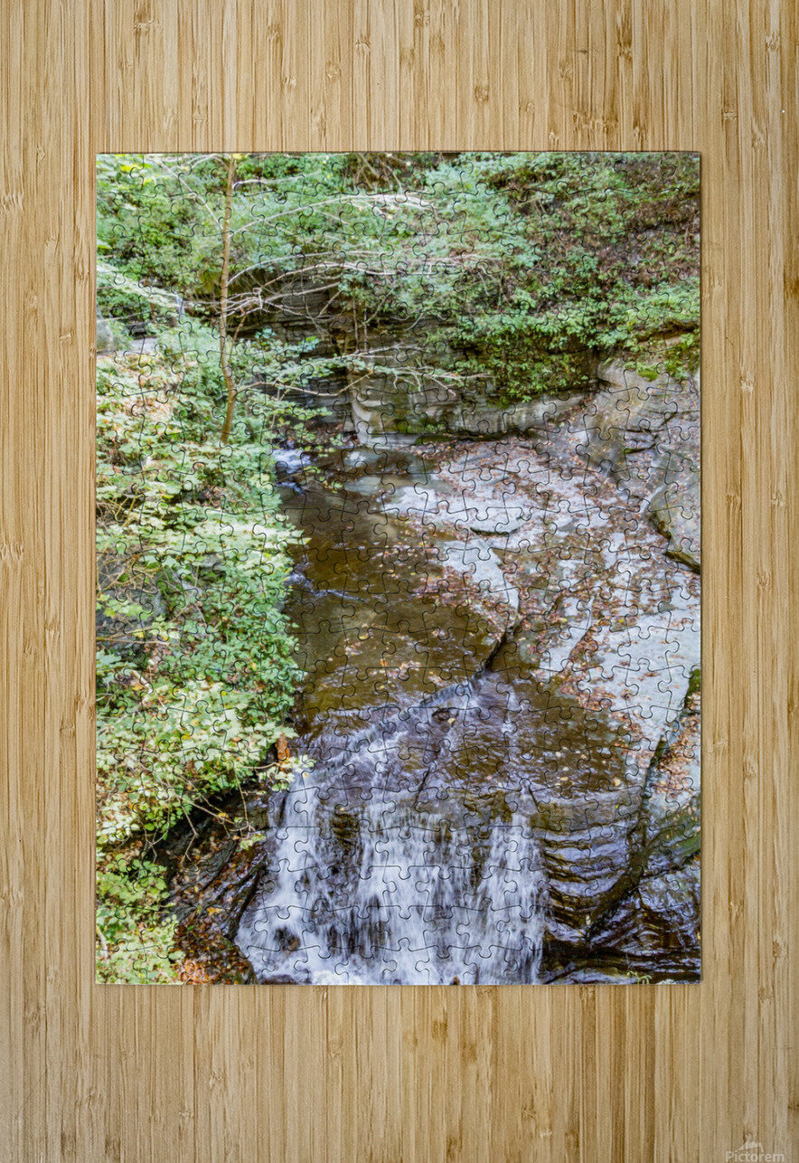 Eagle Cliff Falls 4  HD Metal print with Floating Frame on Back