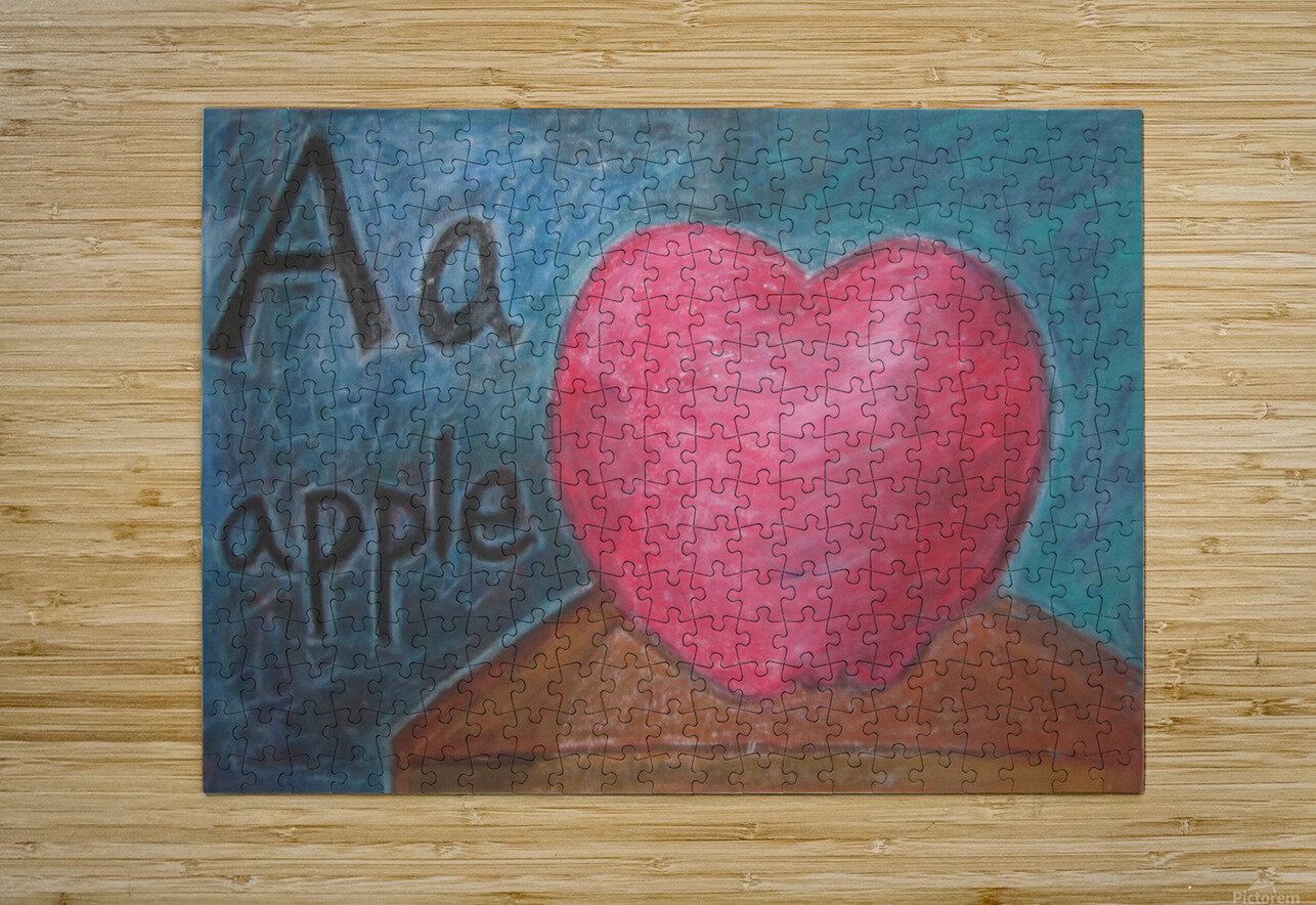 A is for Apple  HD Metal print with Floating Frame on Back