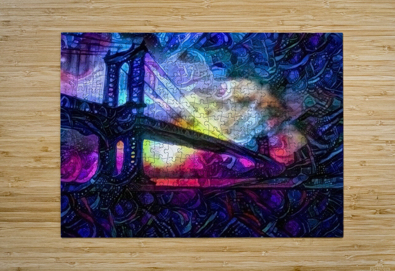 Manhattan Bridge  HD Metal print with Floating Frame on Back