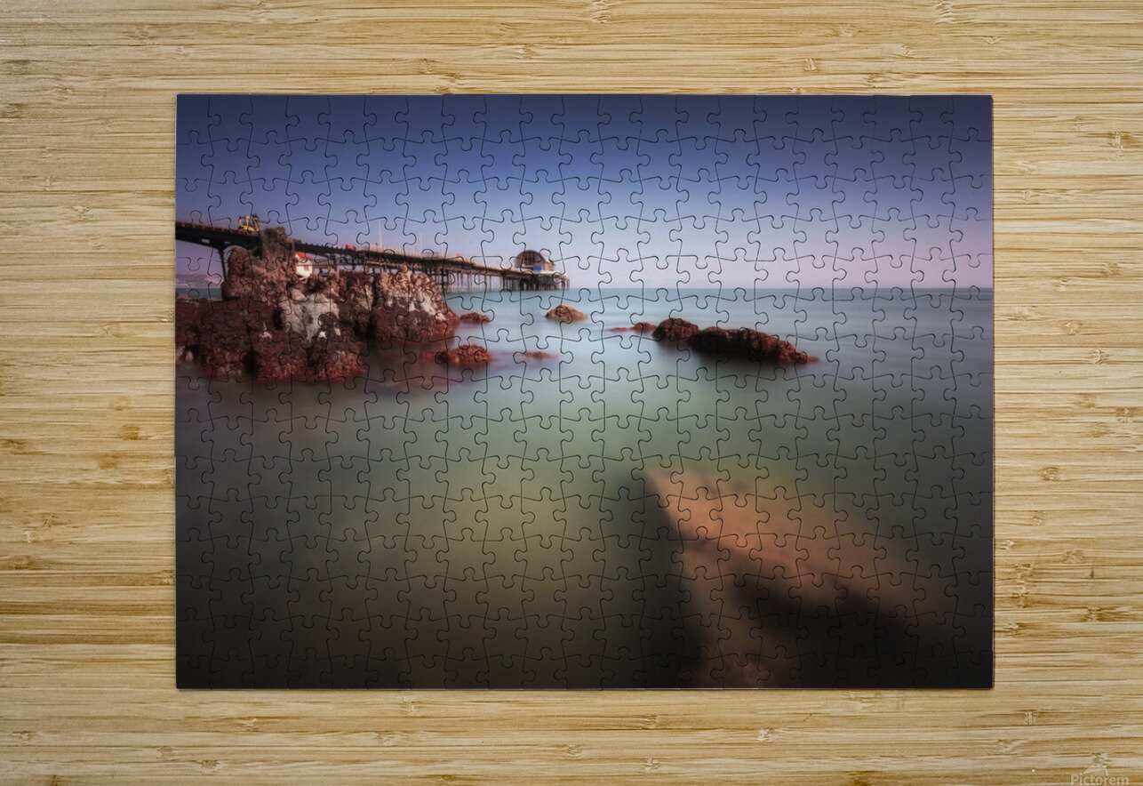 Mumbles pier Swansea  HD Metal print with Floating Frame on Back