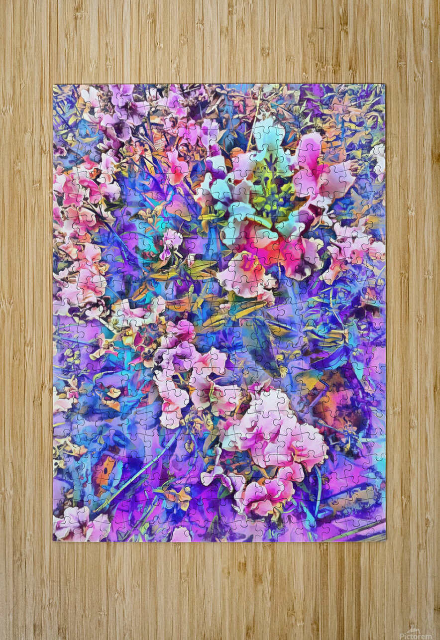 Pink and Blue Fusion  HD Metal print with Floating Frame on Back