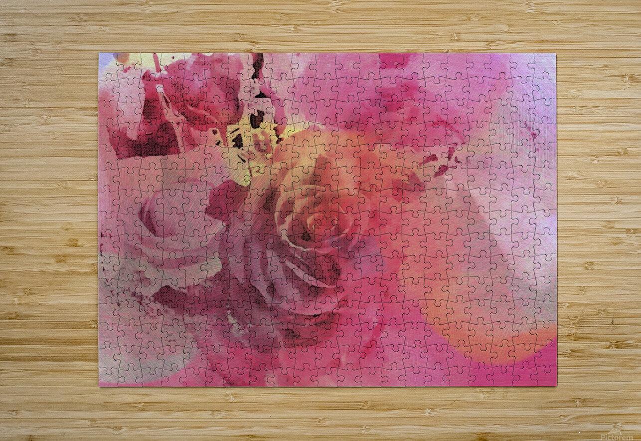 June Rose  HD Metal print with Floating Frame on Back