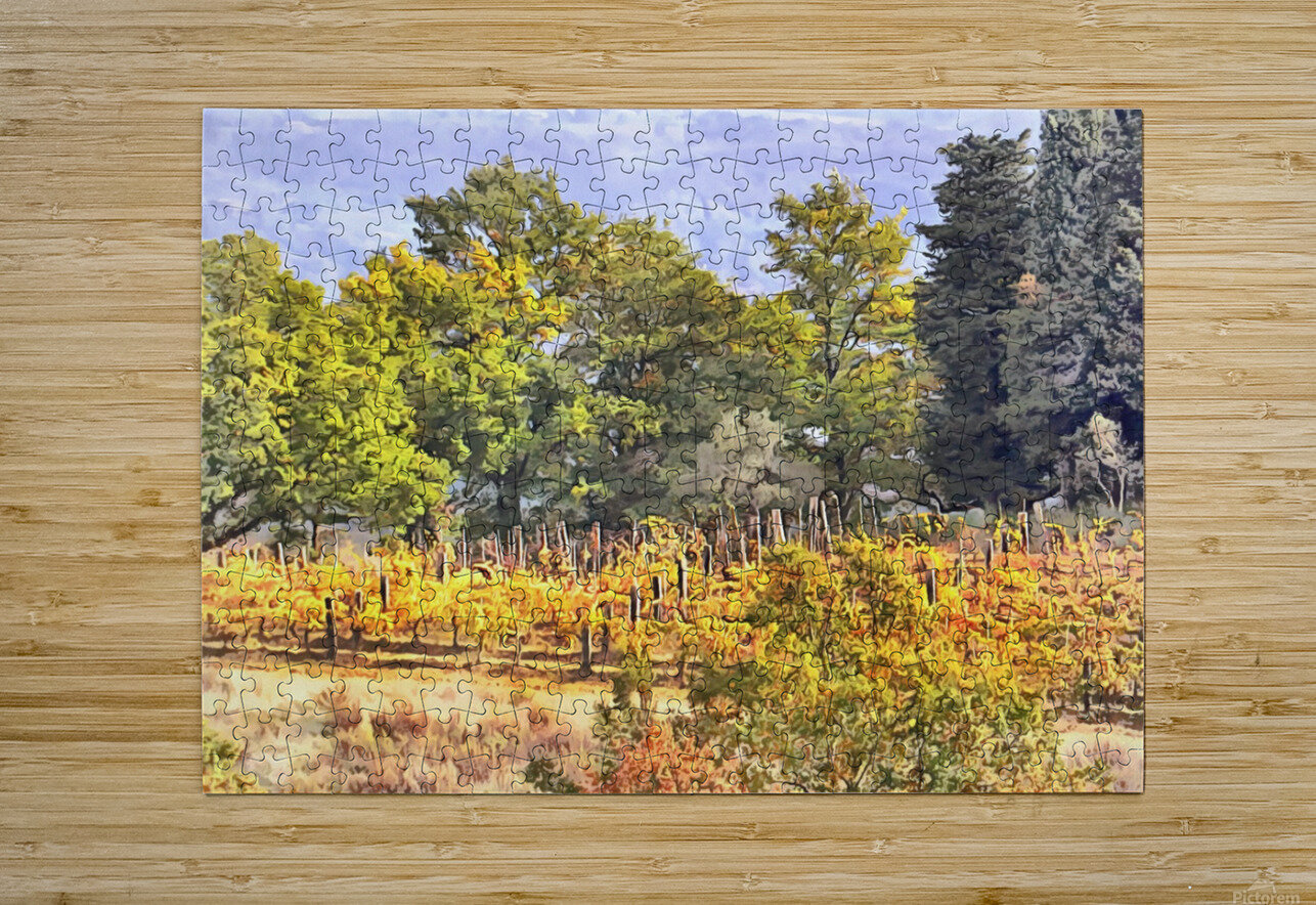Tuscan Countryside in Autumn  HD Metal print with Floating Frame on Back