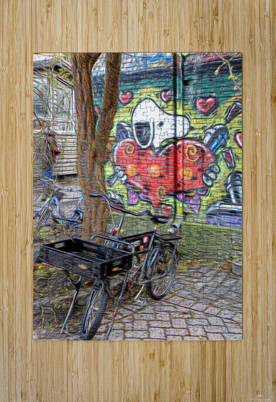Bicycles at Rest  HD Metal print with Floating Frame on Back