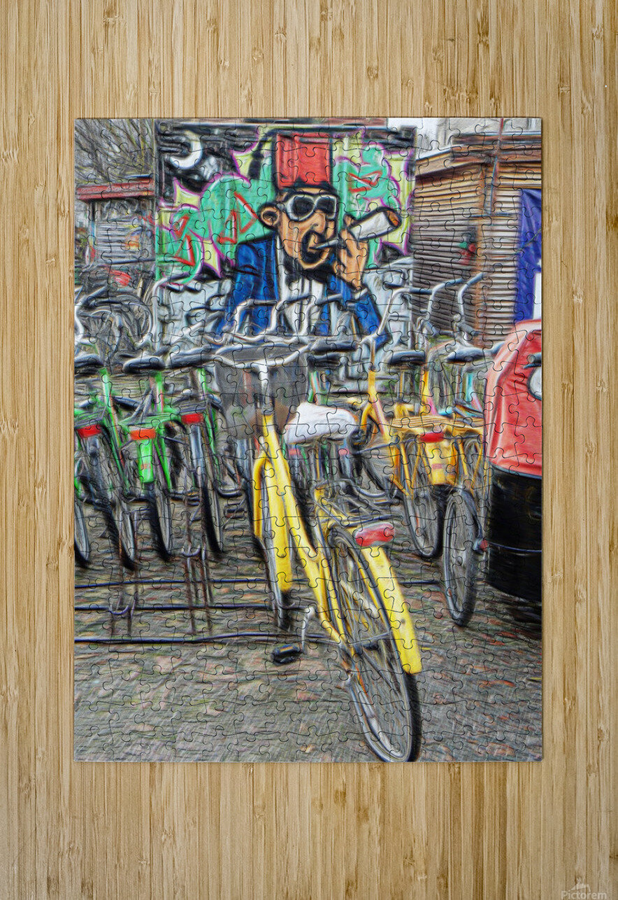 Do Not Cycle Under the Influence  HD Metal print with Floating Frame on Back