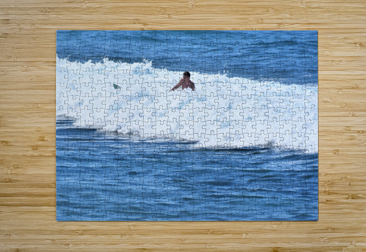 Catch a Wave  HD Metal print with Floating Frame on Back