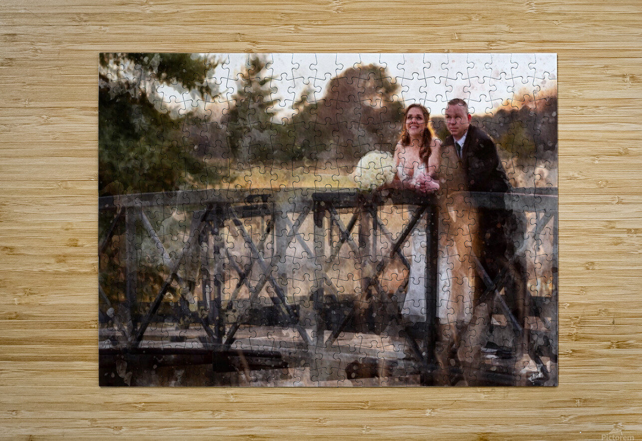 Scott and Stephanie: Color  HD Metal print with Floating Frame on Back