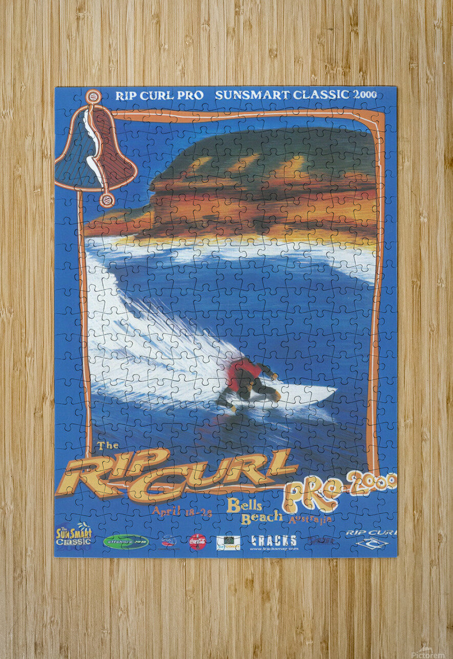 2000 RIP CURL PRO BELLS BEACH EASTER Surfing Championship Competition Print - Surfing Poster  HD Metal print with Floating Frame on Back