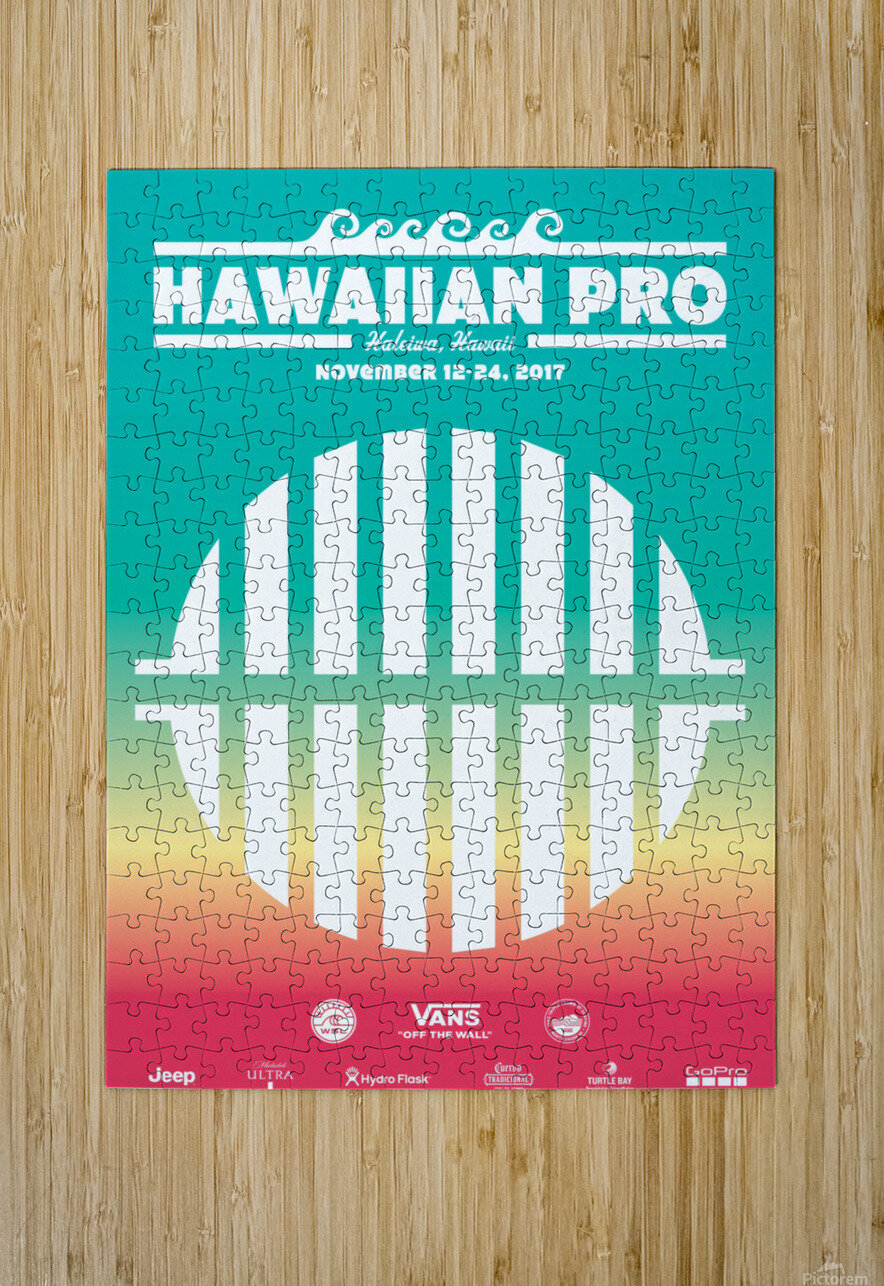 2017 HAWAIIAN PRO Surf Competition Print  HD Metal print with Floating Frame on Back