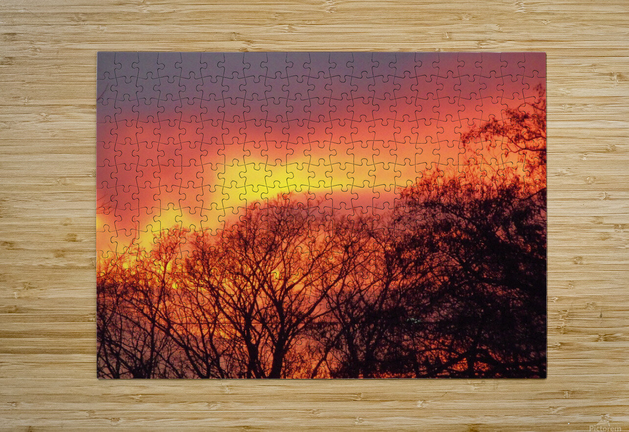 Sunset 1  HD Metal print with Floating Frame on Back