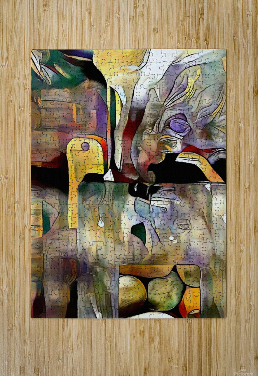 Modern Abstract  HD Metal print with Floating Frame on Back