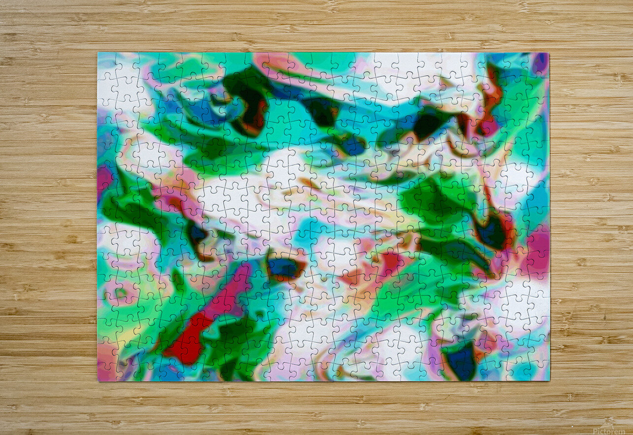 Waterfall - multicolor abstract swirl wall art  HD Metal print with Floating Frame on Back