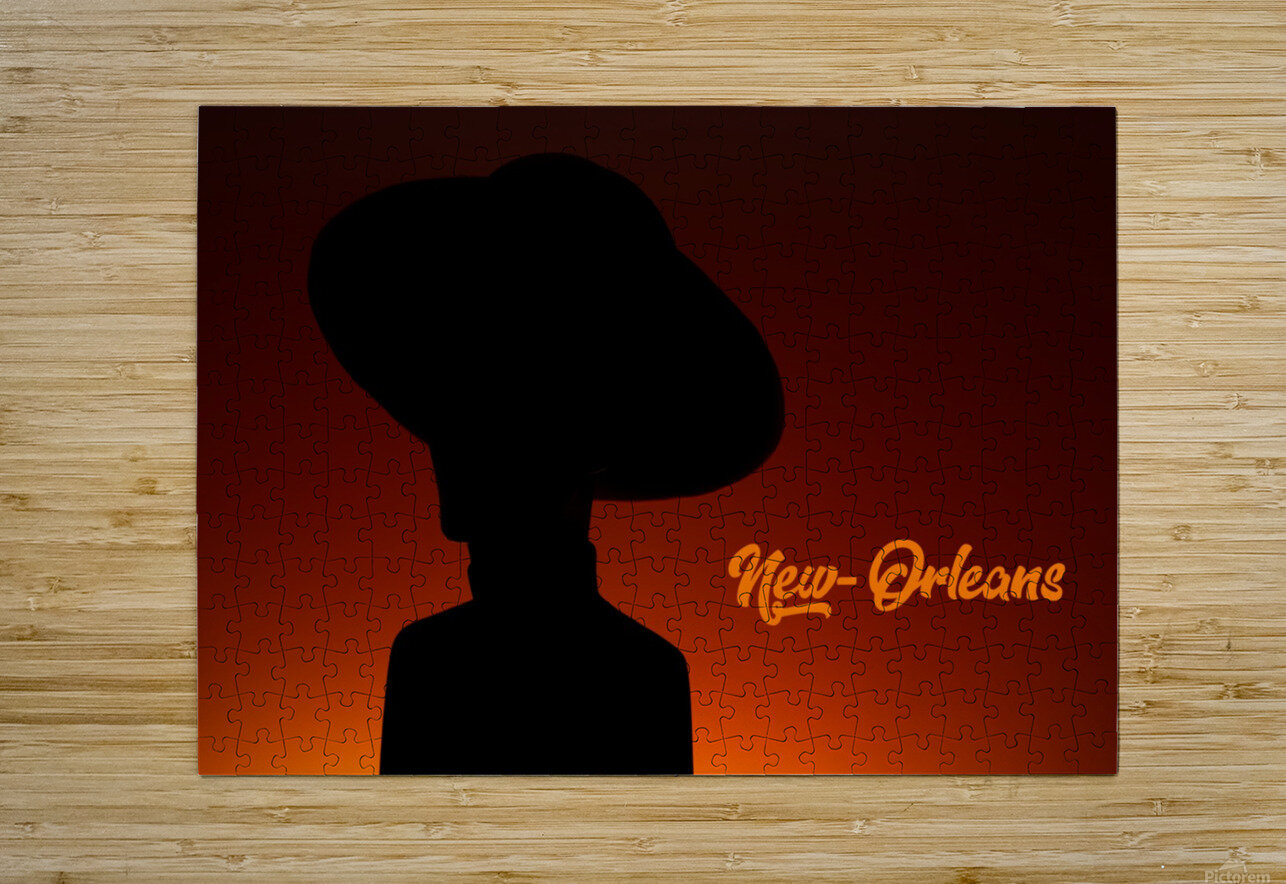 New-Orleans shadow  HD Metal print with Floating Frame on Back