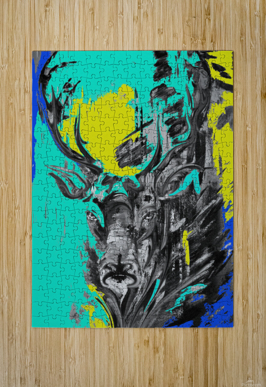 reindeer2  HD Metal print with Floating Frame on Back